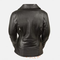 womens fitting leather jacket vest