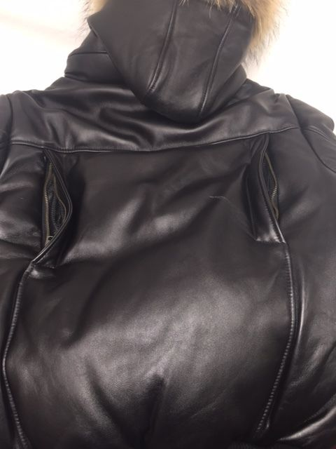 fur hooded hoodies soft leather
