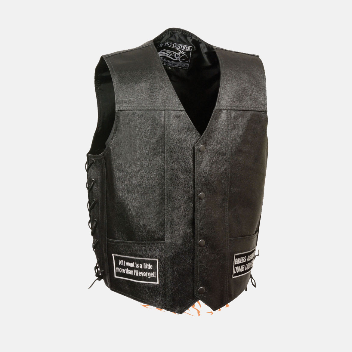 motorcycle Vest with patches