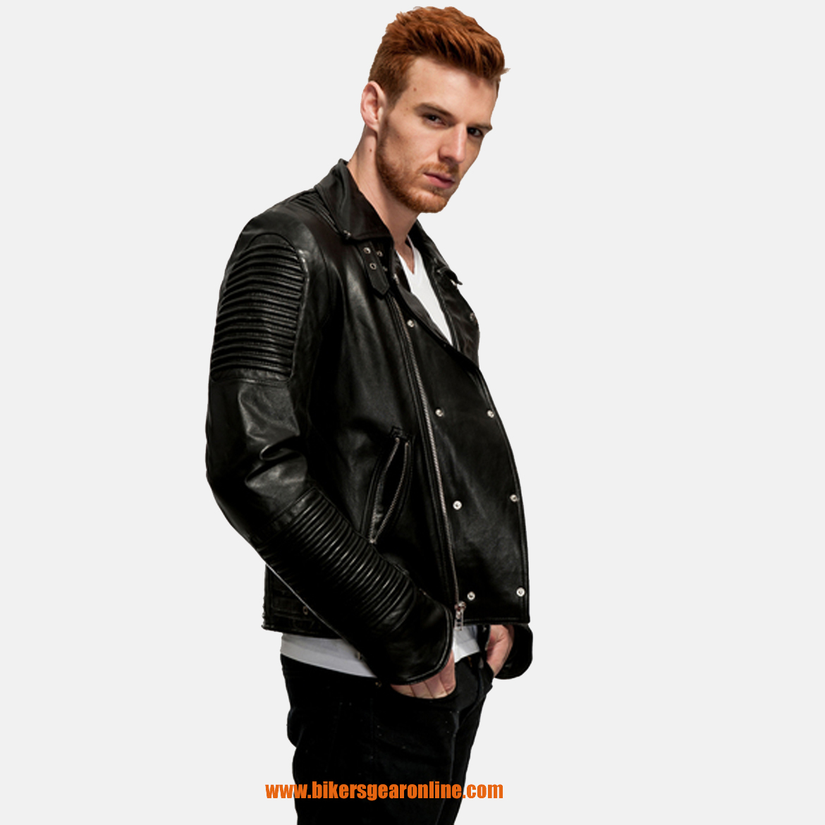 Old School Butter Soft Leather Jacket Slim Style Bikers