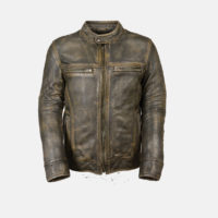 Scooter leather jacket brown