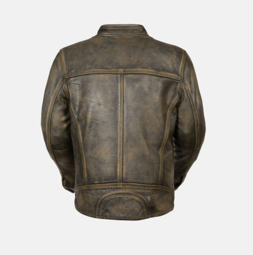 Scooter style leather jacket mens