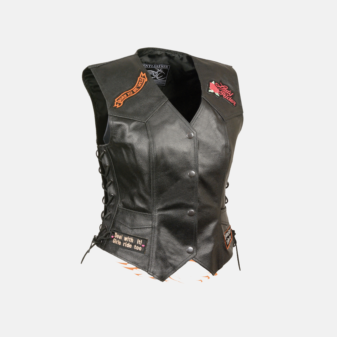 women's jacket with patches