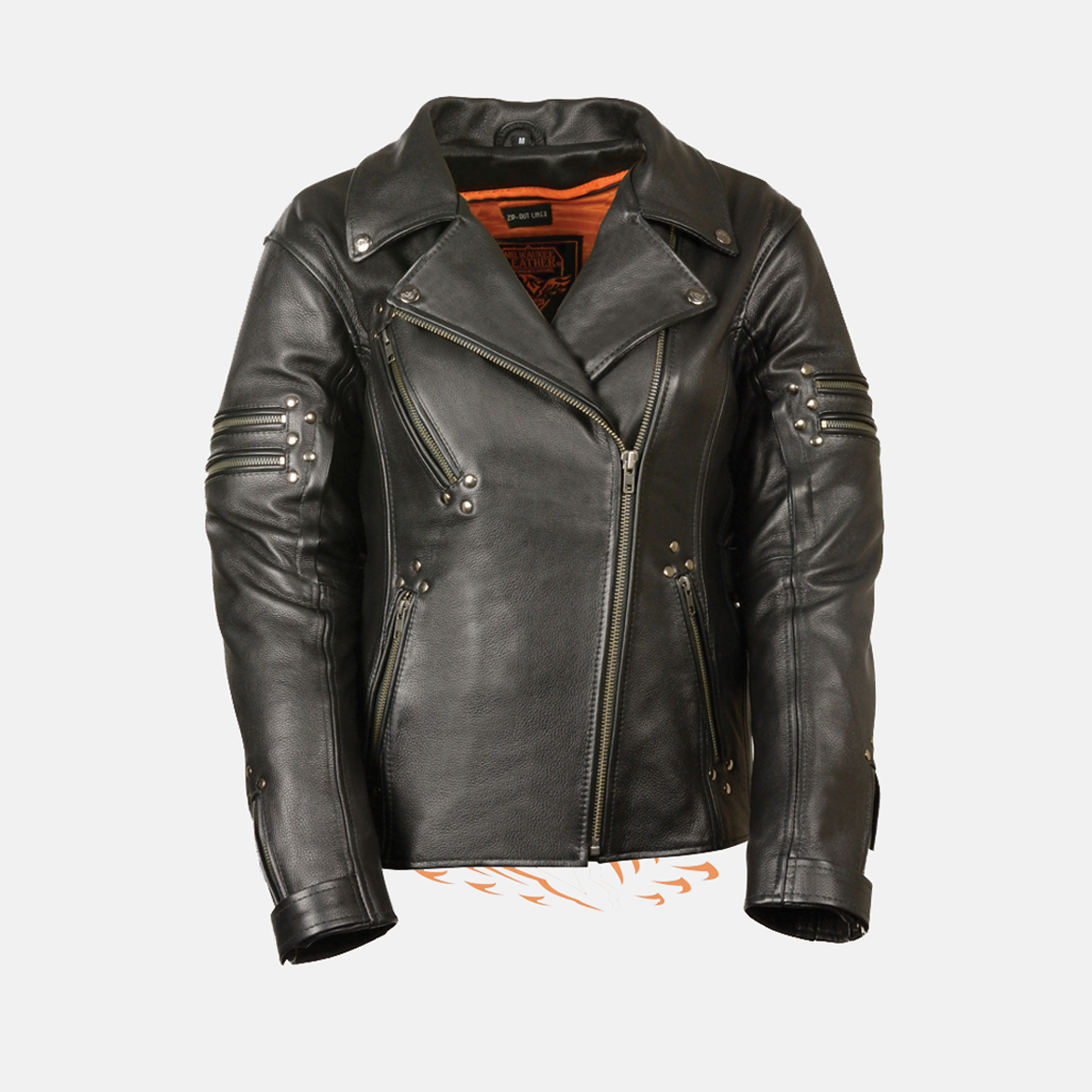 Womens beltless Leather Jacket