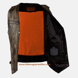 Womens brown distressed leather jacket
