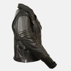 womens fitted leather jacket beltless