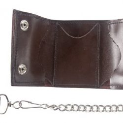 Biker Wallet with Chain brown long Chain
