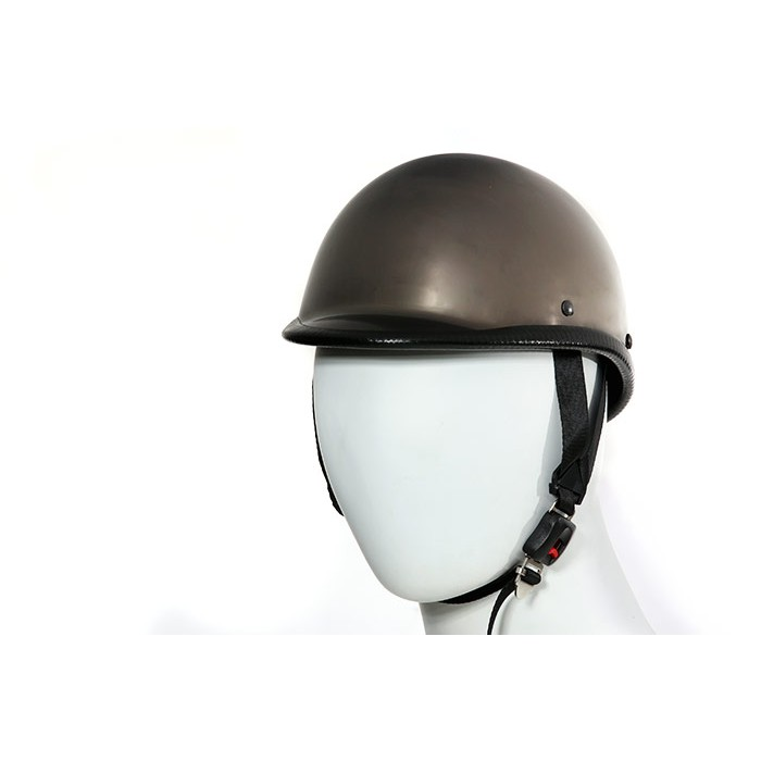 Black chrome motorcycle helmets