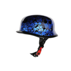 blue german helmet