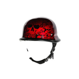 burgundy motorcycle helmet