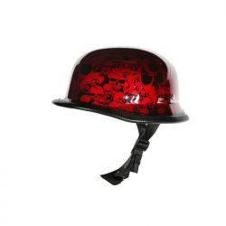 Burgundy motorcycle helmets