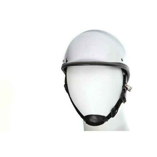 chrome jockey motorcycle helmet