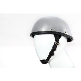 Chrome novelty motorcycle helmet