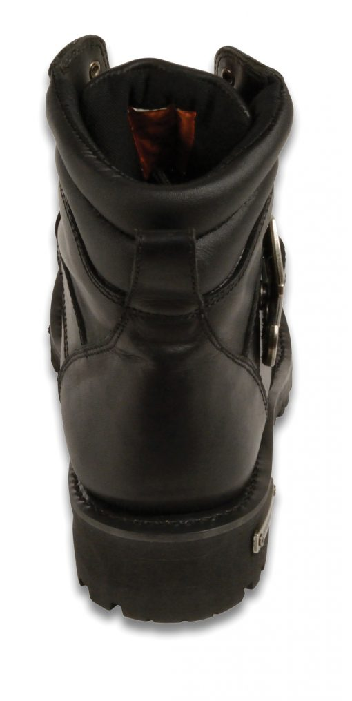 custom leather motorcycle boots black