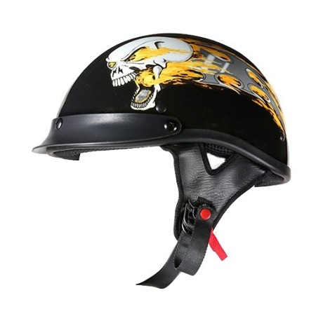 dot approved helmet flames