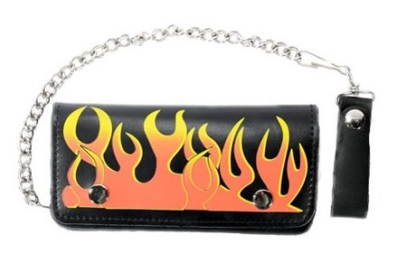 flaming wallets motorcycle Chain
