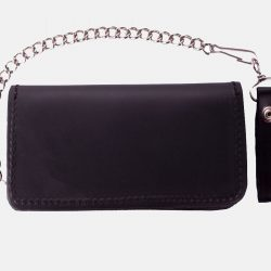 leather biker wallets with Chain