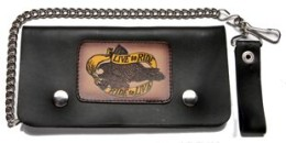 leather chain wallet for Motorcycle