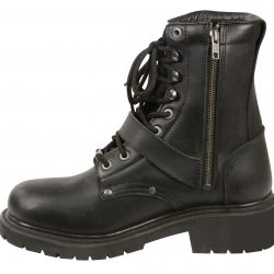 leather motorcycle boots black