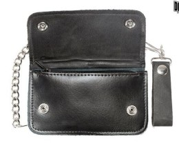 Men's Black Biker's Wallet long Chain