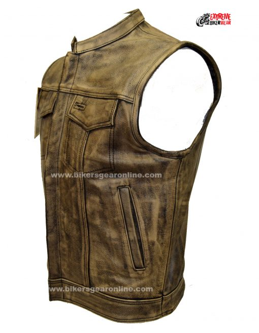 Mens Brown Leather Biker Jackets