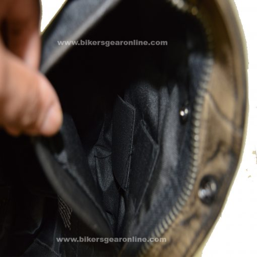 Mens Brown Leather Jacket inside View
