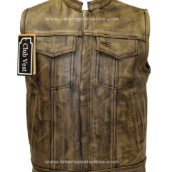 mens brown leather motorcycle jacket