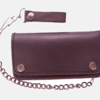 Motorbike Wallets With Chain Brown