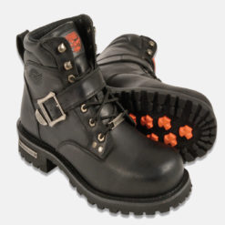 motorcycle boots buckle