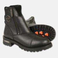motorcycle boots side zipper