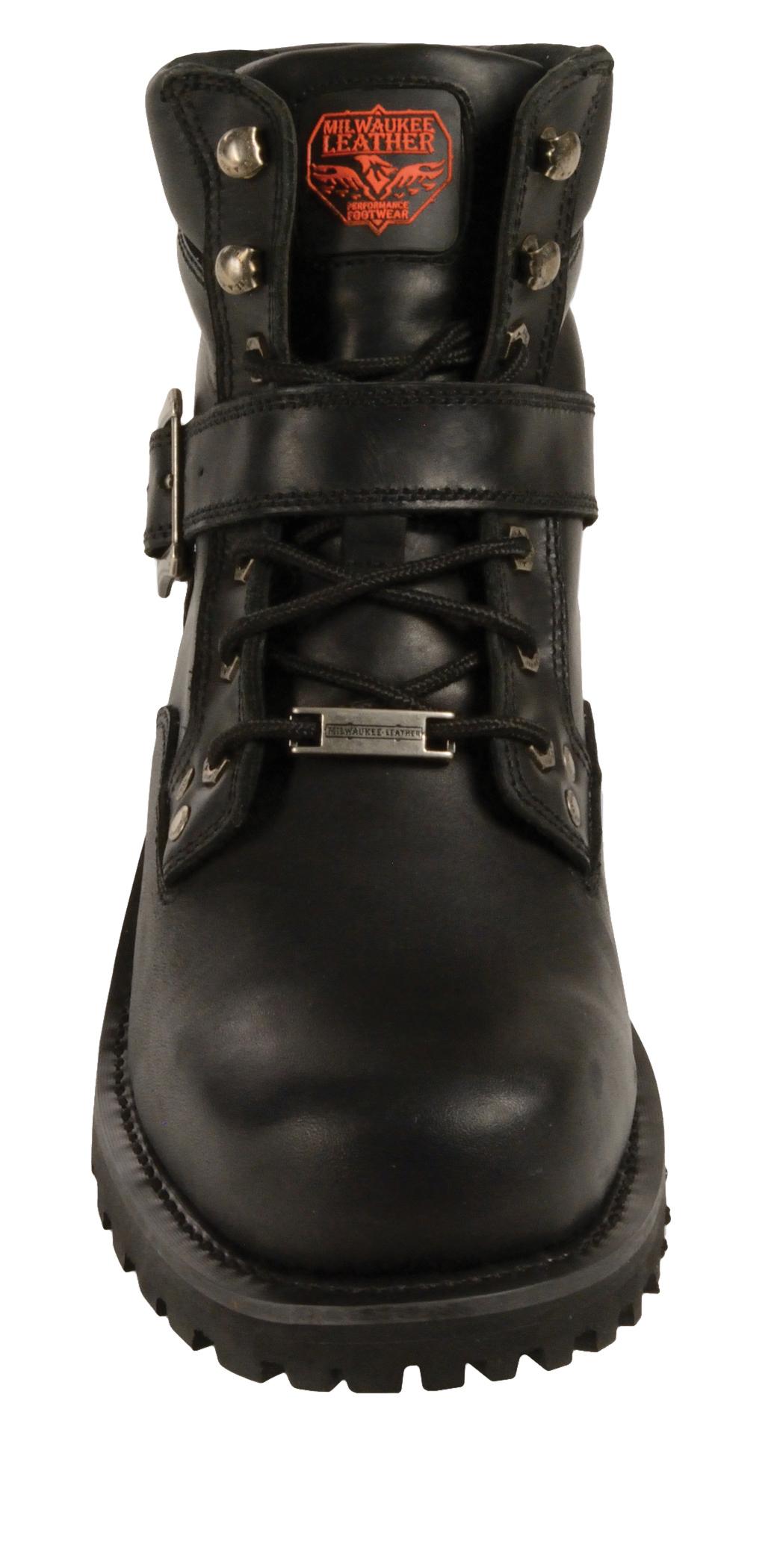 motorcycle boots with side buckle