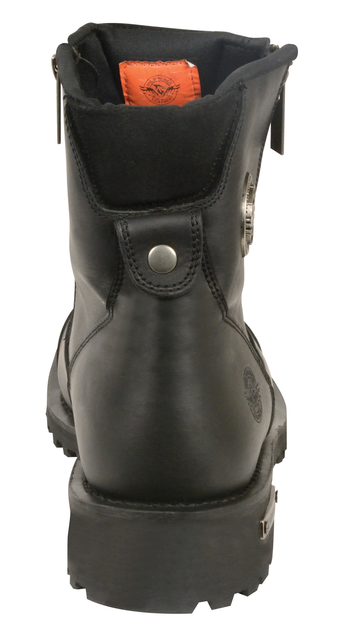 motorcycle boots with side zip