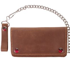 motorcycle chain wallets brown Smooth