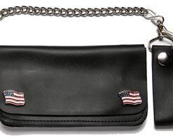 motorcycle wallet usa flag