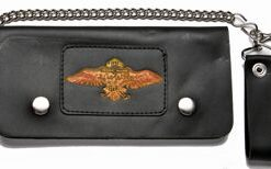 motorcycle wallets for men wings