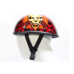 Orange Motorcycle Helmets Skull