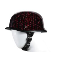 Red novelty motorcycle helmet