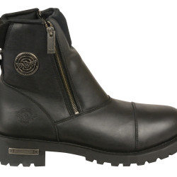 western boots with side zipper
