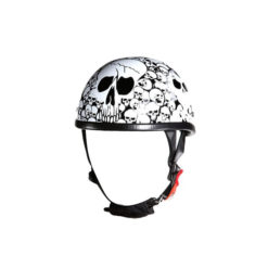 white novelty motorcycle helmet