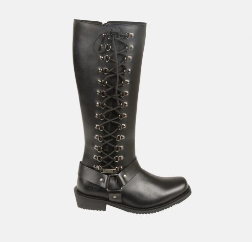 womens knee high leather boots waterproof