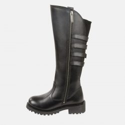 womens knee high motorcycle boots black
