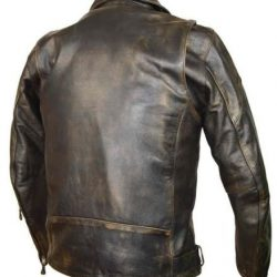 Biker Leather jackets in Police Style Gun Pockets