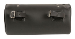 black leather motorcycle tool bag