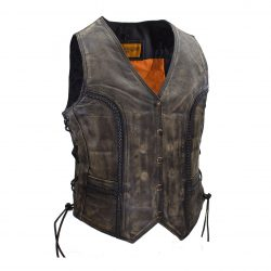brown Motorcycle distressed leather jacket womens