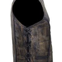 Ladies Distressed brown Leather Vest