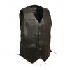 Leather biker vest with 10 gun pockets