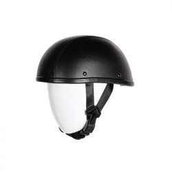 leather covered helmets motorcycle