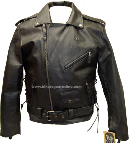 mens black cowhide leather motorcycle jacket