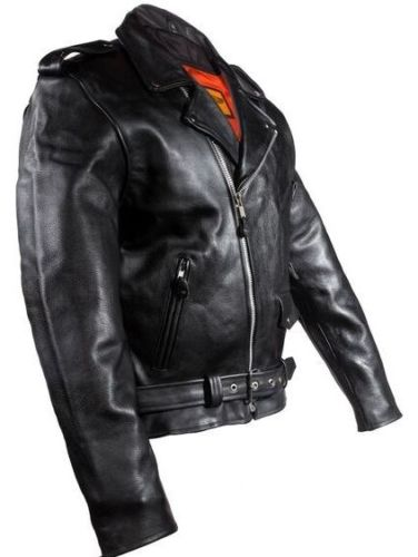 men's cowhide leather driving jacket