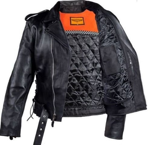 men's cowhide leather driving jackets